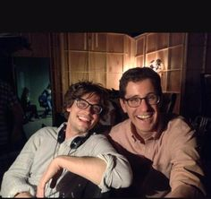 Matthew Gray Gubler directing episode 10-21, with Breen Frasier, writer of the episode.