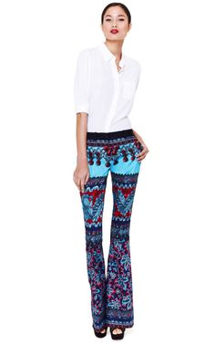 Prabal Gurung | Flared Molded Seam Trousers | $1,495