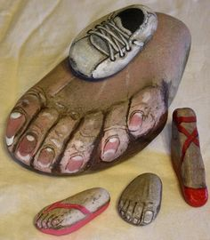 Just because you learned how to paint on rocks... (Ewww, toenails!)