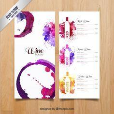 menu vins de Aquarelle