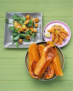 Baked Butternut Squash Fries | Martha Stewart Living - A rich source of beta-carotene (the color of the flesh is a good indicator), vitamin C, magnesium, and potassium, butternut squash is also high in fiber. These fries are baked, not fried.