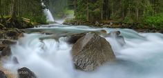 Krimml waterfalls in the heart of alpine Austria. This is a 6 shot pano which ended up around in total. Idaho, Waterfalls, Europe, Explore, Places, Outdoor, Outdoors, Outdoor Games, The Great Outdoors