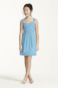 Back to School Dance - Sleeveless Short Mesh Dress with Side Cascade