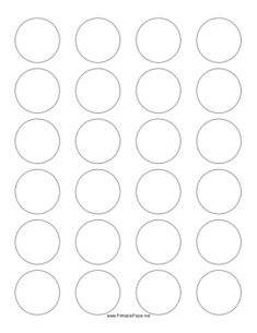This printable paper has 24 1.5 inch circles for making labels or badges. Free to download and print