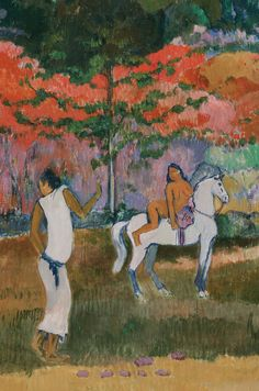 Gauguin, Paul - Femme et cheval blanc - Museum of Fine Arts, Boston