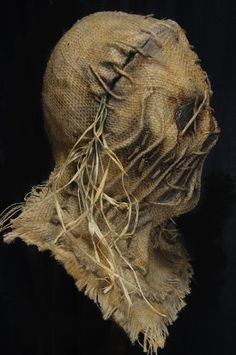 24b Scarecrow Mask, Scary Mask, Chest Piece, Hand Stitching, Lion Sculpture, Statue, Art, Art Background, Brisket
