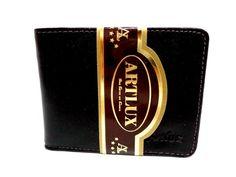 Carteira masculina em couro para cartões, moedas, dinheiro e cheque. Cód. 325. Ótimo para colocar no bolso.