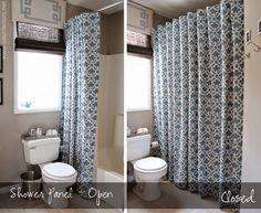 DIY Comment Transformer Nimporte Quel Rideau En De Douche Tall Shower Door CurtainsDIY