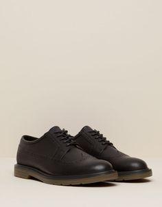 Pull&Bear - hombre - zapatos hombre - zapato picados - negro - 13335112-V2016