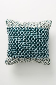 Gorgeous Anthropologie Throw Pillow $68 Cotton Silk Clear Sequins details NWT
