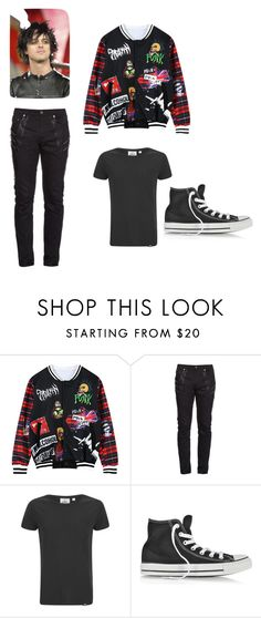 """guy #5"" by mynameisblrryface ❤ liked on Polyvore featuring Chicnova Fashion, Yves Saint Laurent, Cheap Monday, Converse, men's fashion and menswear"