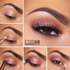 Wedding Makeup Ideas for Brides - Naked 3 Tutorial Rosy Smokey Look - Romantic make up ideas for the wedding - Natural and Airbrush techniques that look great with blue, green and brown eyes - rusti evening glow looks - https://www.thegoddess.com/wedding-makeup-for-brides