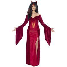 Disfraz de diablesa medieval talla grande para mujer