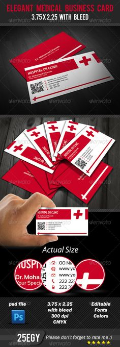 Cpr customizable business cards cpr instructor pinterest elegant medical business card industry specific business cards fandeluxe Gallery