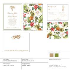 Wedding Invitation Tropical Beach Collection by seahorsebendpress