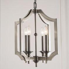 Sleek Pagoda Frame Lantern - Shades of Light - antique nickel - $360.00