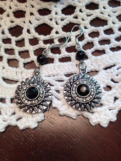 Earrings Antique Vintage Black Jet Mourning by ReclaimedRemains