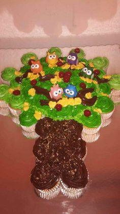 Cupcake decorado buhos