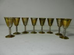 Set of 8 Silver Plated Chalices/ Made in Spain/ EPB #EPB