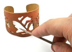 Create an amazing rustic copper metal clay cuff with the talented Emma Baird!