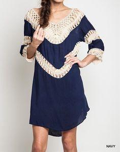 Eliza Bella Bohemian Hippie Fit Crochet Tunic Dress / Blouse XL & Plus – Eliza Bella Boutique