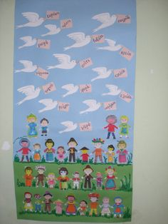 School Classroom, Classroom Decor, Back 2 School, International Day, Education, Children, Projects, Peace, Board