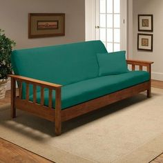 stretch jersey full futon cover in aqua by madison home   45 14  jer fut magshion futon cover slipcover  burgundy full  54x75 in      rh   pinterest