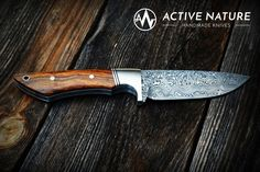 ACTIVE NATURE - Handmade Knives - Model RS I AN made from Damasteel and Desert Ironwood Handmade Knives, Vikings, Nature, Model, Design, Knifes, Collectible Knives, The Vikings