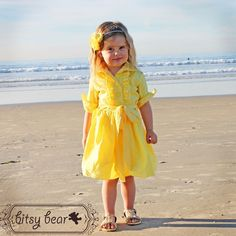 Yellow Tuxedo Dress for baby, toddler, and girl.