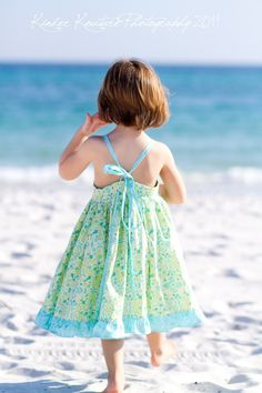 The Beach Dress  Size 14 by KinderKouture on Etsy, $48.00