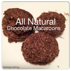 All Natural Chocolate Macaroons