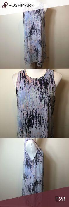 eb7f329b550c Calvin Klein water color splash printed dress 10 Calvin Klein color printed  dress size 10 Pre