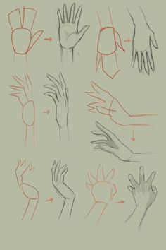 How to draw hand, basic drawing tutorial. Basic Drawing, Drawing Skills, Drawing Lessons, Drawing Techniques, Drawing Tips, Painting & Drawing, Drawing Hands, Drawing Ideas, Manga Drawing Tutorials
