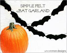 Simple Felt Bat Garland by Uncommon Designs