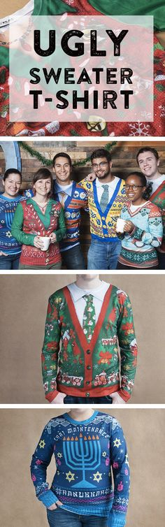 No need to DIY. These ugly sweaters are actually t-shirts. Just as tacky, but way more comfortable.