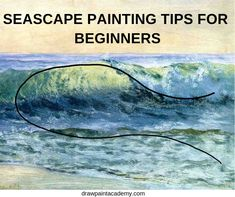 Seascape Painting Tips For Beginners. The seascape can be a challenging subject to paint. Water is unpredictable by nature and has translucent and reflective qOil Painting With Palette Best Watercolor Painting Techniques Everyone Should TryAr Watercolor Painting Techniques, Acrylic Painting Techniques, Watercolour Tutorials, Art Techniques, Abstract Watercolor Tutorial, Oil Painting Lessons, Painting Tools, Abstract Oil, Painting Art
