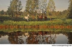 Russian Paintings Gallery - Adamow Alexis - 'Summer Day'