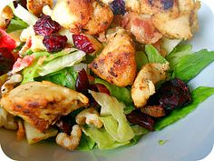 Chicken and Bacon Autumn Chopped Salad. SixSistersStuff.com #salad #chicken
