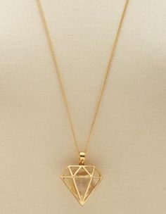diamond cage pendant necklace