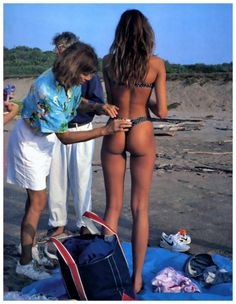 Stephanie Seymour Sport's Illustrated Behind The Scenes 1989 never thought she was this skinny