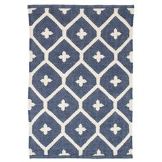 Test drive this rug in your space.Order a swatch by adding it to your cart.A bold, attention-grabbing vintage pattern gets an update in a durable indoor/outdoor weave and versatile duotone color combos. Due to the handmade nature, variations in color are expected. Made of 100% PET, a polyester fiber made from recycled plastic bottles.