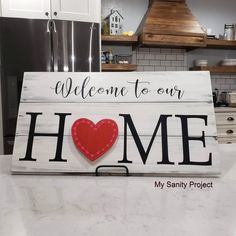 Austauschbare HOME-Schilder – My Sanity Project - Home Dekoration Diy Craft Projects, Projects To Try, Diy Crafts, Wood Crafts, Craft Ideas, Wood Projects, Decor Ideas, Project Ideas, Upcycled Crafts