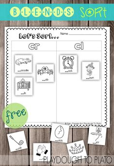 Blends Picture Sort - Playdough To Plato Reading Workshop, Reading Centers, Eal Resources, Word Work Activities, Literacy Activities, Literacy Centers, Teaching Reading, Teaching Ideas, Guided Reading