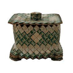 Made out of KOOL ciggies wrappers!  Prison Art Box | Cigarette Prison Art | Folk Art | Mid-Century Prison Art - $425.