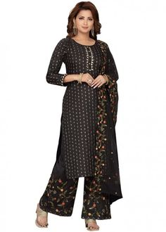 #black #embroidered #readymade #salwar #kameez #traditional #indian #salwar #suit #indianfashion #party #wear #collection #eid #2021 #ootd Gown Style Dress, Readymade Salwar Kameez, Chanderi Suits, Top Colour, Color Black, Dress Making, Indian Fashion, Black Tops, Designer Dresses
