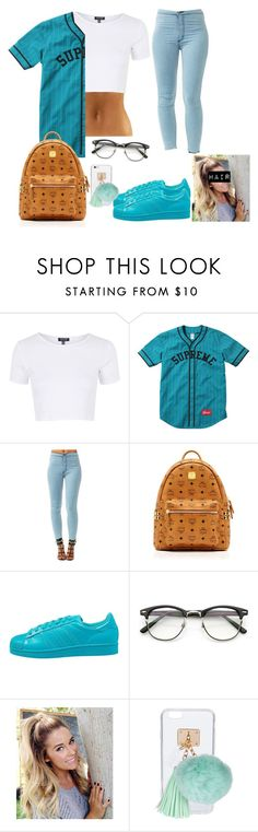 """""""School outfit #2"""" by kaelynjones05 ❤ liked on Polyvore featuring Topshop, MCM, adidas Originals and Ashlyn'd"""