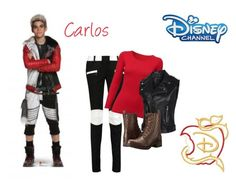 """""""Descendants - Carlos"""" by tanyapiien ❤ liked on Polyvore featuring Disney, Balmain, Uniqlo and Steve Madden"""