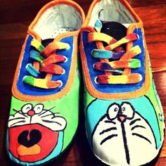 canvas shoes hand painted canvas shoes!! never been worn. make an offer vivivina Shoes Sneakers