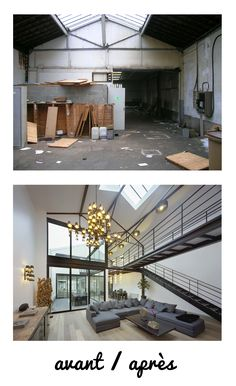 Loft in a former marble factory in Colombes Casa Loft, Loft House, Steel Building Homes, Building A House, Dream Apartment, Apartment Design, Loft Design, House Design, Design Design
