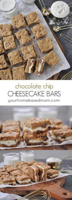 Chocolate Chip Cheesecake Bars are the perfect combo of two of your favorite treats.